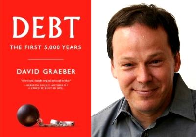 cover of book and Graeber portrait - white man